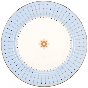 Lomonosov Imperial Porcelain Dinner Plate Azur Blue 7.9