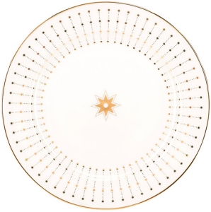 Lomonosov Imperial Porcelain Dinner Plate Azur Golden 7.9