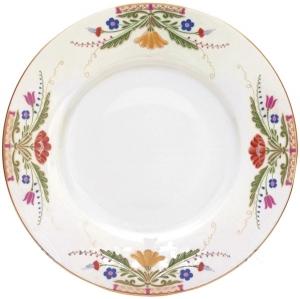 Lomonosov Imperial Porcelain Dinner Plate European Moscow River Flat 11.8