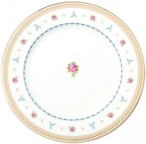 Lomonosov Imperial Porcelain Dinner Plate Flower Waltz 10.6