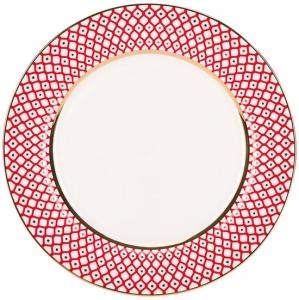 Lomonosov Imperial Porcelain Dinner Plate Scarlet v.2 10.6