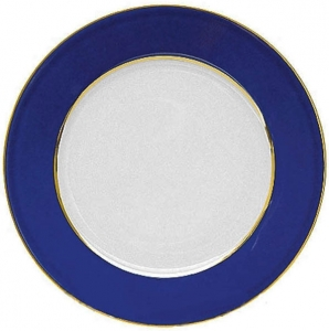 Lomonosov Porcelain Flat Dinner Plate European Classic of Petersburg 8.7