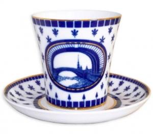 Lomonosov Imperial Porcelain Mug Hermitage Bridge Leningradskii-2 12.2 fl.oz/360 ml