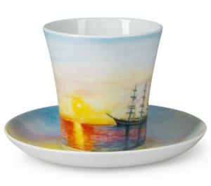 Lomonosov Porcelain Mug Sailing Vessel Barque Leningradskii-2 12.2 fl.oz 360 ml