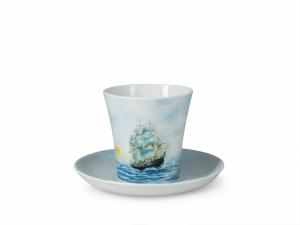 Lomonosov Porcelain Mug Sailing Vessel Frigate Leningradskii-2 12.2 fl.oz 360 ml