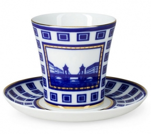 Lomonosov Porcelain Mug Staro-Kalinkin Bridge Leningradskii-2 12.2 fl.oz/360 ml