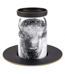 Lomonosov Imperial Porcelain Mug and Saucer Totem BUFFALO