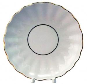 Lomonosov Imperial Porcelain Pastry Dish Cake Cookie Biscuit Snow White Tulip  8.5
