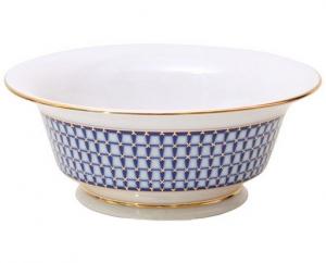 Lomonosov Imperial Porcelain Salad Bowl (6 serv.) Alexandria Classic of Petersburg 47.3 fl.oz/1400 ml