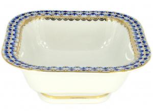 Lomonosov Imperial Lomonosov Porcelain Cobalt Net Salad Bowl (1 serv.) 5.75 oz / 170 ml