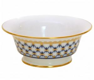 Lomonosov Imperial Porcelain Salad Bowl Cobalt Net (2 serv.) 9oz/270ml