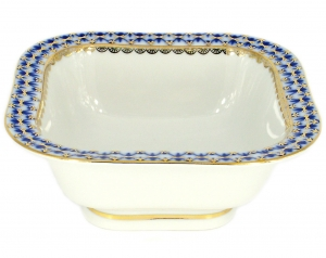 Lomonosov Imperial Porcelain Cobalt Net Salad Bowl (6 serv.) 50.7 fl.oz/1500 ml