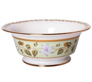 Lomonosov Imperial Porcelain Salad Bowl Jade Background (6 serv.) 47.3 oz/1400 ml