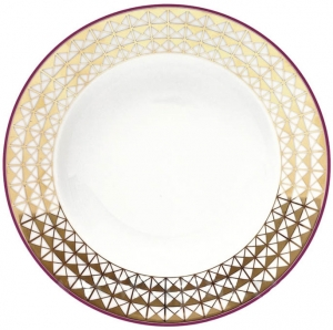 Lomonosov Imperial Porcelain Soup Plate European Moscow River 8.9