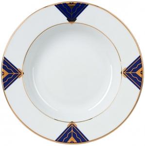 Lomonosov Imperial Porcelain Soup Plate Kalevala 8.9 inches 225 mm