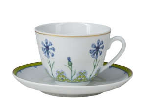 Lomonosov Porcelain Tea Cup Set Spring Blue Cornflower 7.8 oz/230ml