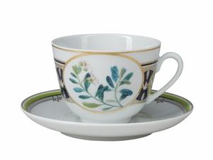 Lomonosov Porcelain Tea Cup Set Spring Foxberry