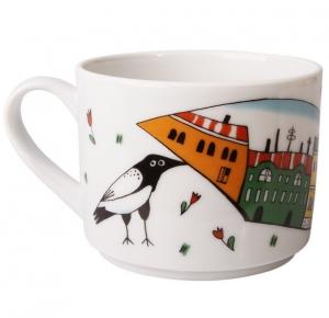 Lomonosov Imperial Porcelain Tea Cup Spring City 9.5 oz/280 ml
