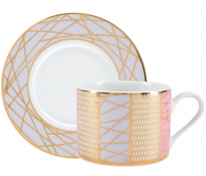 Lomonosov Porcelain Tea Set Cup and Saucer Solo Frosty Fairytale