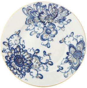 Lomonosov Imperial Porcelain Dinner Plate Smooth Singing Garden Flat 7.9