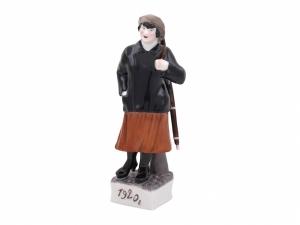 Militia Woman Lomonosov Porcelain Figurine Soviet Propaganda