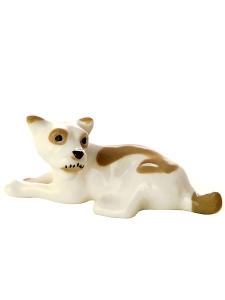 Mongrel Dog Lomonosov Porcelain Figurine