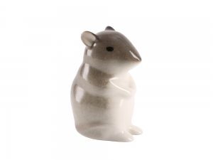 Mouse Pale Yellow Lomonosov Porcelain Figurine