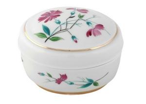 Lomonosov Imperial Porcelain Treasure Jewellery Oval Box Carnation