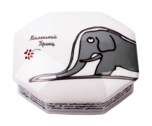 Lomonosov Imperial Porcelain Jewellery Box Little Prince Elephant