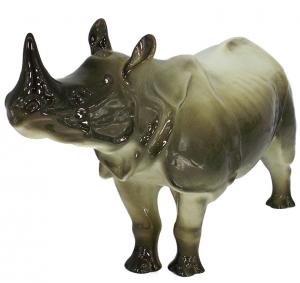 Rhinoceros Rhino Lomonosov Imperial Porcelain Figurine