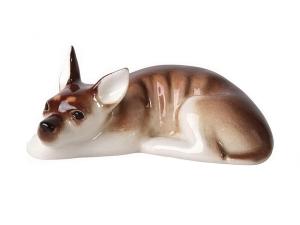 Toy Terrier Russkiy Dog Lomonosov Porcelain Figurine