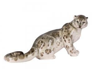 Snow Leopard Gray Lomonosov Porcelain Figurine