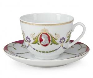 Lomonosov Imperial Porcelain Tea Cup Set Spring Cameo 7.8 oz/230ml