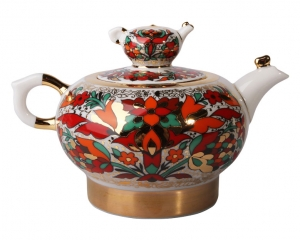 Lomonosov Imperial Porcelain Tea Pot Family Red Rooster 8.5 oz/250 ml