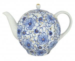 Lomonosov Imperial Porcelain Tea Pot Tulip Bindweed 10 Cups 67 oz/2000 ml