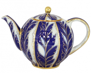 Lomonosov Imperial Porcelain Tea Pot Tulip Winter Night 3 Cups 20 oz/600 ml