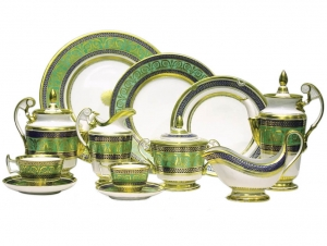 Lomonosov Imperial Porcelain Tea Set Gold 6/20