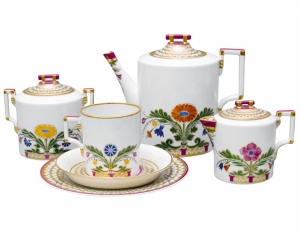 Lomonosov Imperial Porcelain Tea Set Moscow River 6/20