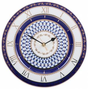 Wall Clock Cobalt Net Lomonosov Imperial Porcelain