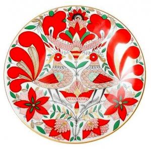 Decorative Wall Plate Fairytale Magic Birds 7.7