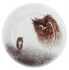 Decorative Wall Plate Hedgehog in the Fog 10.6
