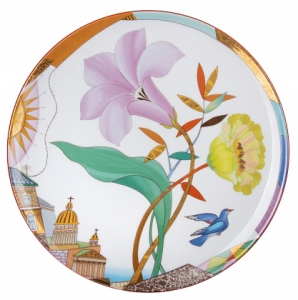 Decorative Wall Plate Lilac Evening 10.8