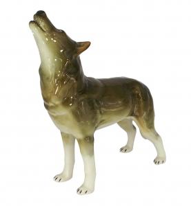Wolf Standing Lomonosov Imperial Porcelain Figurine