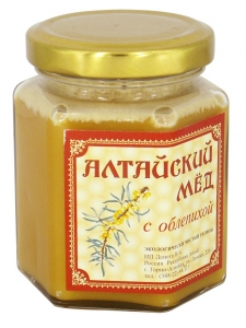 Eco Organic Natural Russian Siberian Honey with Sea Buckthorn