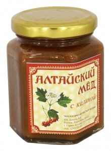 Eco Organic Natural Russian Siberian Honey with Viburnum Guelder-Rose