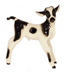 Cow Baby Bull-Calf Goby Lomonosov Imperial Porcelain Figurine