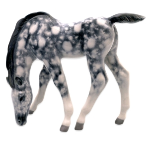 Horse Drinking Gray Colored Lomonosov Imperial Porcelain Figurine