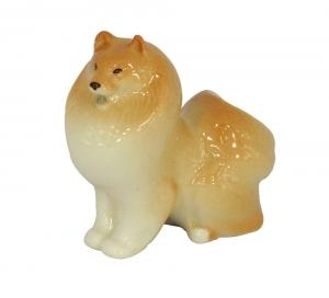 Lomonosov Imperial Porcelain Pomeranian Dog Dwarf-Spitz Figurine