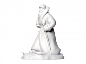 Lomonosov Porcelain Christmas New Year Figurine White Father Frost Santa Claus