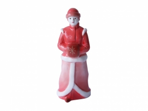 Lomonosov Porcelain Christmas New Year Figurine Red Snow Maiden